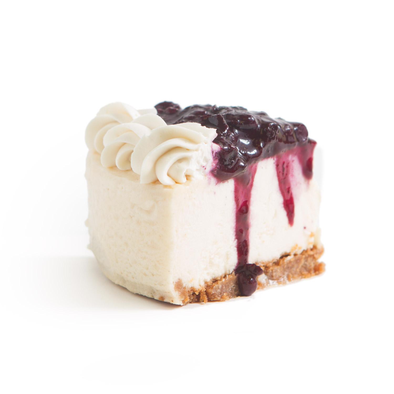 GF Blueberry Cheesecake slice