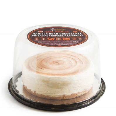 GF Vanilla Bean Cheesecake 7-inch dome