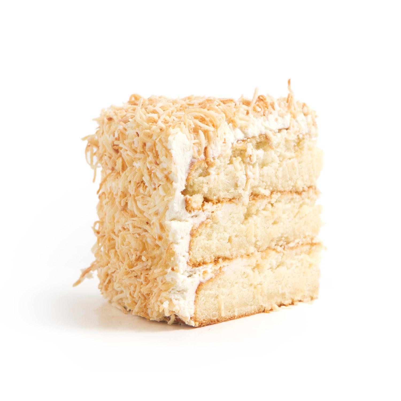 NF Coconut Cream Cake slice